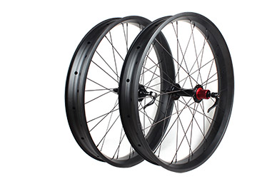 MTB Wheelset - 80mm wide 25mm FatBike carbon wheelset